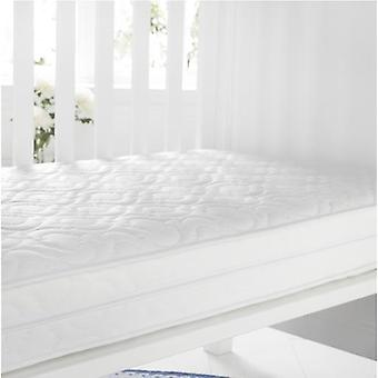 Quilted AntiAllergene Breathable Foam Cotbed Matress. Größe: 70 cm x 140cm, 10cm Tiefe