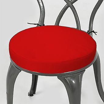 """Gardenista® rood water resistant 13 """"ronde Bistro stoel zitkussen, pak van 2"""