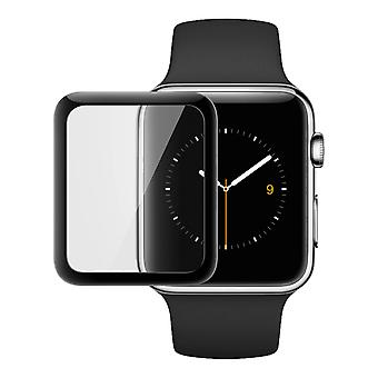 Apple Watch 42mm/44mm böjd härdat glas 9H-svart konturer
