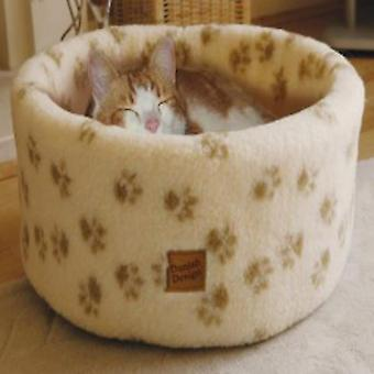 Deens design paw prints Cosy Cat bed