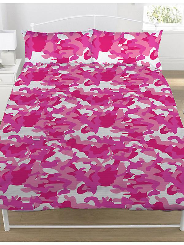 Camouflage Duvet Cover and Pillowcase Set