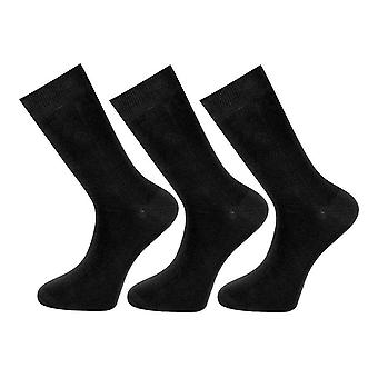 Mens RJM Cotton Rich Socks SK147BK