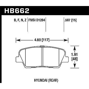 Hawk Performance HB662Z. 587 PC