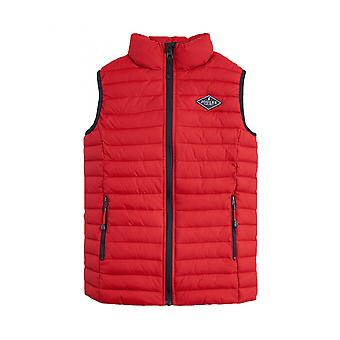 Joules Older Crofton Skinny Quilted Pack Away Gilet - Red