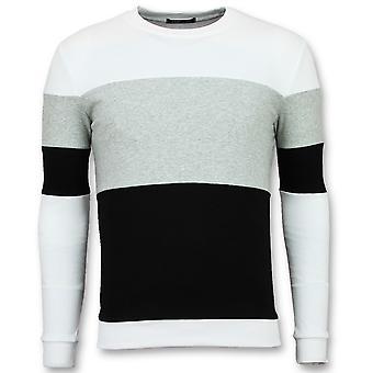 Suéter Listrado - Suéteres listrados online - Cinza