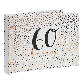 Luxe Ladies 60th Birthday Photo Album Guest Book