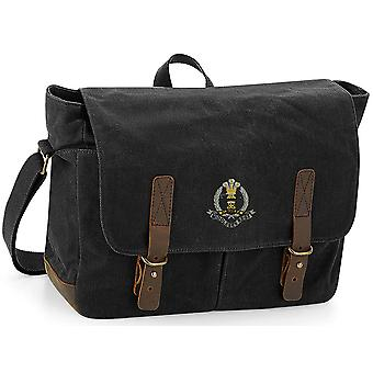 Middlesex Regiment - Licensed British Army Embroidered Waxed Canvas Messenger Bag (en anglais)