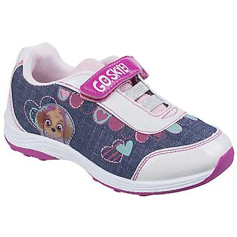 Leomil Kids Skye Touch Fastening Sport Shoe White/Blue/Pink