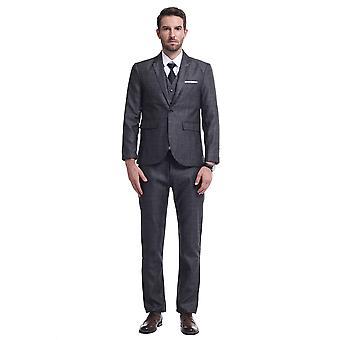 Allthemen Men's Anzüge 3-teilige plaid Business Casual Slim Fit Blazer & Hose &Weste