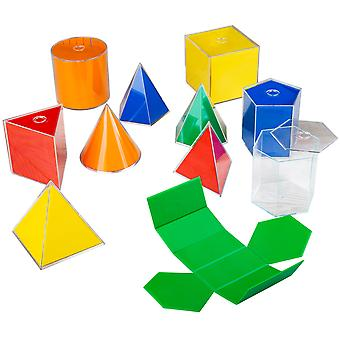 Folding 2D 3D Geometric Solids 10 Pieces