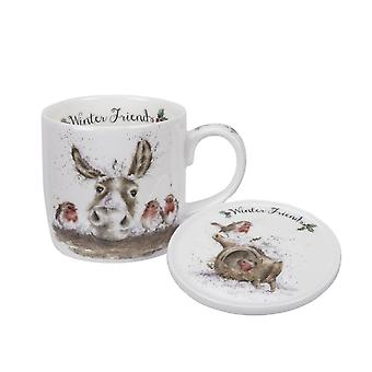 Wrendale Designs Winter Friends Mug and Coaster Set