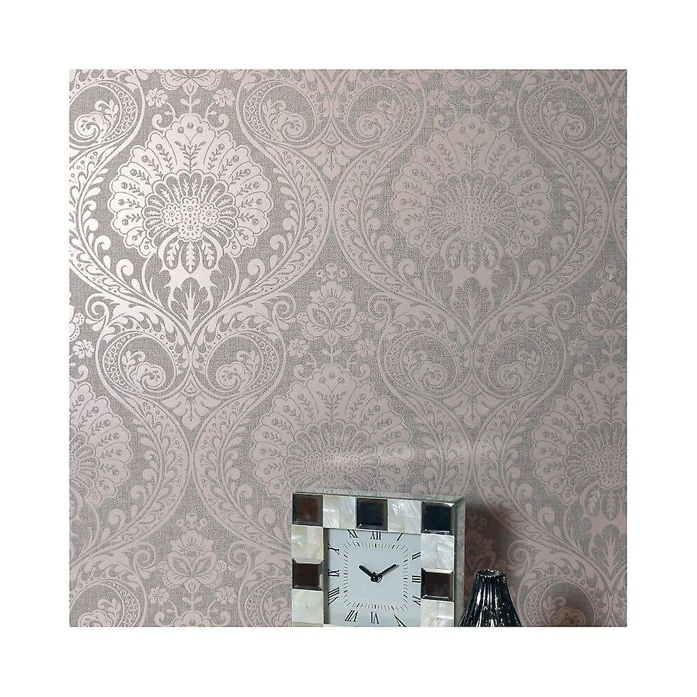 Arthouse Luxe Damask Monster Floral Metallisk Teksturert Stoff