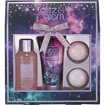 Style & Grace Glitz & Glam Galaxy Gift of the Glow- 120ml Bath Gel, 100ml Body Lotion and 2 x 50g Bath Fizzer