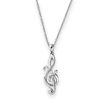 925 Sterling Zilver gepolijst Gift Boxed Spring Ring Rhodium verguld Love Note 18inch Ketting Sieraden Geschenken voor vrouwen