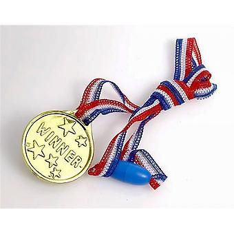 Single 'Winner' Gold Medal for Party Bags & Game Prizes