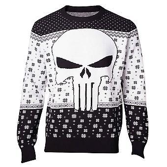 Punisher kerst jumper trui schedel logo nieuwe officiële Marvel mens gebreid