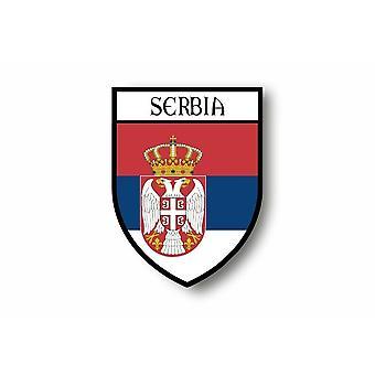 Klistermærke mærkat klistermærke motorcykel bil Blason by flag Serbien Serbien Serbien