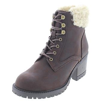 Cliffs by White Mountain Womens Tori Fabric Round Toe Ankle Fashion Boots