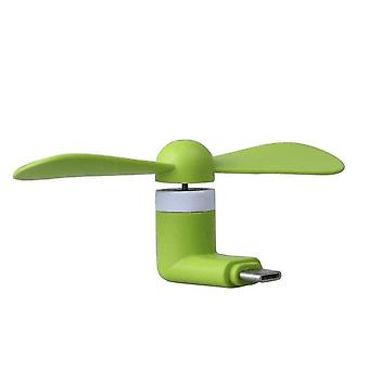 Green Huawei P10 plus til USB type C bærbar mini mute fan