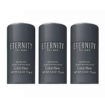 3-pack Calvin Klein Eternity voor mannen deostick 75ml