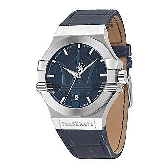 Maserati R8851108015 miesten ' s sininen hihna Potenza ranne kello