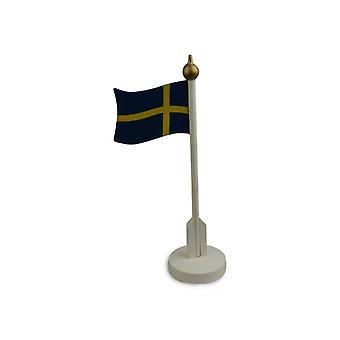 Table Flag 25cm Wood flag Sweden