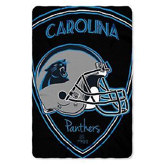 Carolina Panthers NFL Northwest Shield Fleece Throw