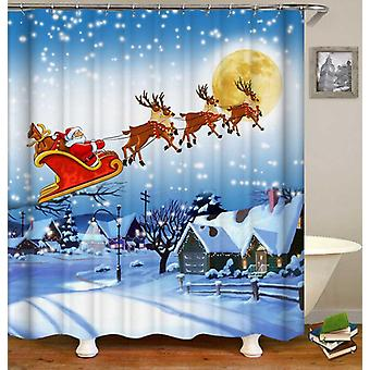 Classic Christmas Scene Shower Curtain