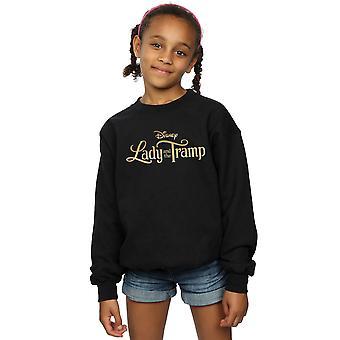 Disney Girls Lady And The Tramp Classic Logo Sweatshirt
