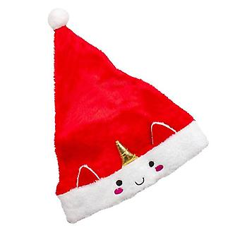 Tomte hood with face and horns