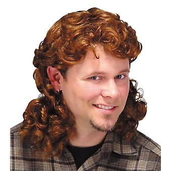 Tainha peruca Auburn para homens