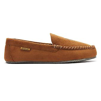 Ralph Lauren Dezi IV Mens Snuff Tan Moccasin Slippers