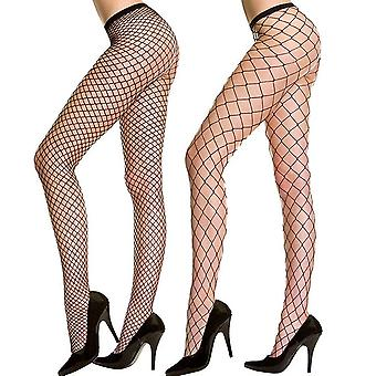 Charmnight Womens High Waist Tights Fishnet Kousen Thigh High Pantyhose 2 ...