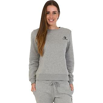Converse Frauen's Star Chevron bestickt Sweatshirt grau 10
