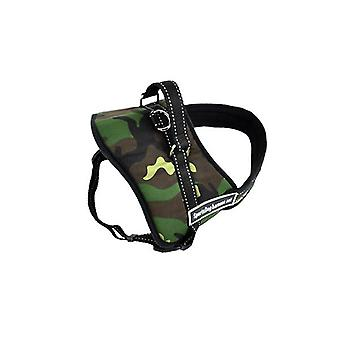 Pawz Adjustable Dog Pulling Harness In Size Medium In Camo Colour