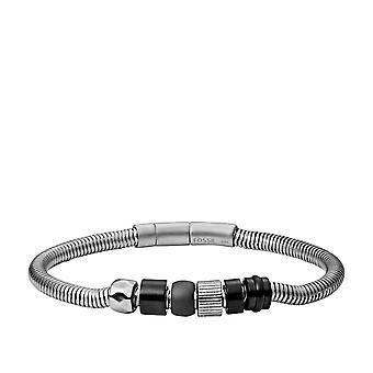 Fossil Vintage Casual Bracelet JF03102998 - Men's Silver Steel