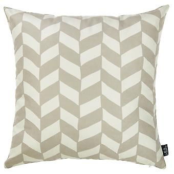 "18""x18""Gray Olive Towers Decorative Throw Pillow Cover Printed"