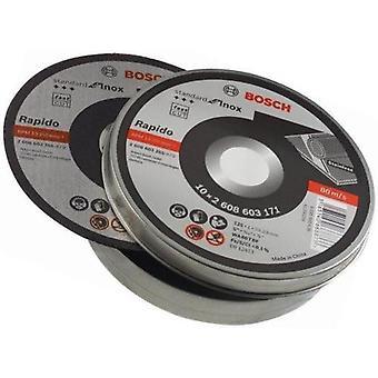 Bosch 125mm x 1mm Standard for Inox Cutting Disc Straight In Tin