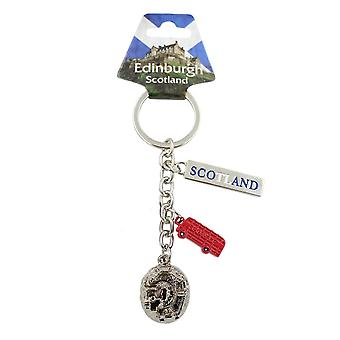 EastWest Keyring - 3d Charms Of Bus Castle And Sign