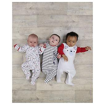 The Essential One Unisex Baby Bear Nautical Sleepsuits - 3 Pack