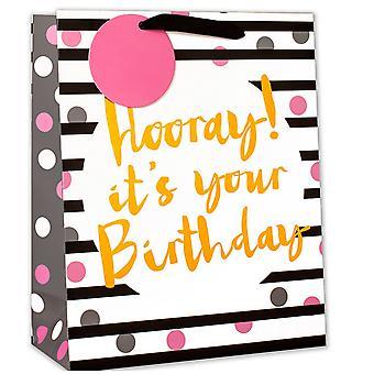 Simon Elvin Hooray Its Your Birthday Foil Medium Gifts Bags