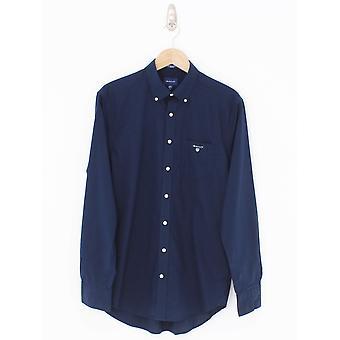 GANT Broadcloth Regular Fit Shirt - Marine