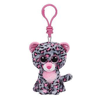 TY Beanie Boo Clip clé Tasha le léopard