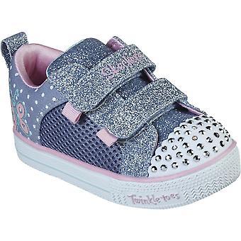 Skechers Girls Shuffle Lite Miss Butterfly Light Up Shoes