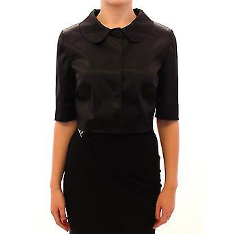Dolce & Gabbana Black Shiny Stretch Bolero Shrug Jacket