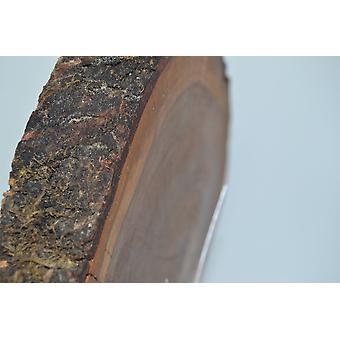 Holz Wanduhr Holzuhr Uhr 30.5x26 cm Essigbaum Baumscheibenuhr Holz Uhr Handarbeit Unikat handmade Made in Austria Geschenk Geschenkidee Holzdeko Holzdekoration