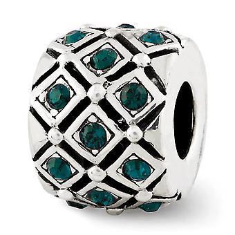 925 Sterling Silver Polerad finish Reflektioner kan Crystal Bead Charm Hängande Halsband Smycken Gåvor för kvinnor