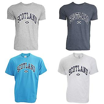 Mens Scotland Print Short Sleeve Casual T-Shirt/Top