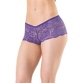 Womens Plus Size Stretch Lace Booty Short Boyshort Underwear Panties