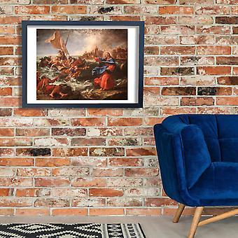 Sebastiano Ricci - a corrente de ar milagrosa de peixes Poster impressão giclée